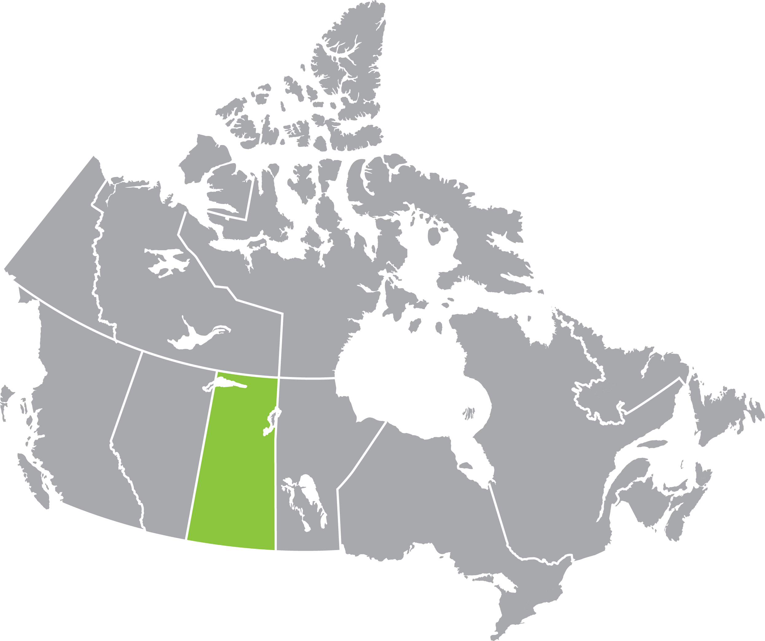 Canada and Sasatchewan map