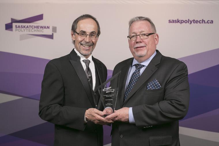 Receiving the award Steve McLellan
