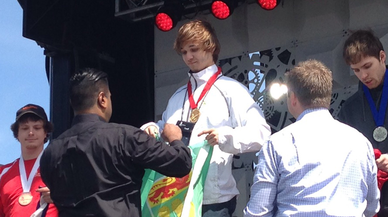 Sask Polytech student wins gold medal and Best of Region award at Skills Canada National Competition
