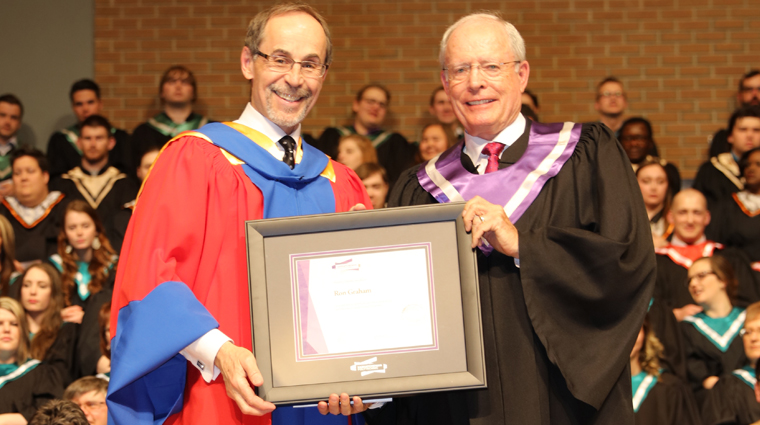 Business leader Ron Graham receives 2016 honorary diploma at Moose Jaw convocation