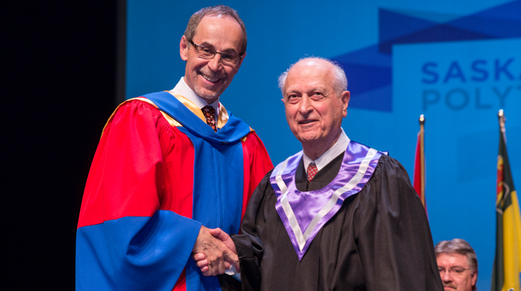 Saskatchewan Polytechnic celebrates remarkable achievements of Dr. Karim (Kay) Nasser with honorary diploma
