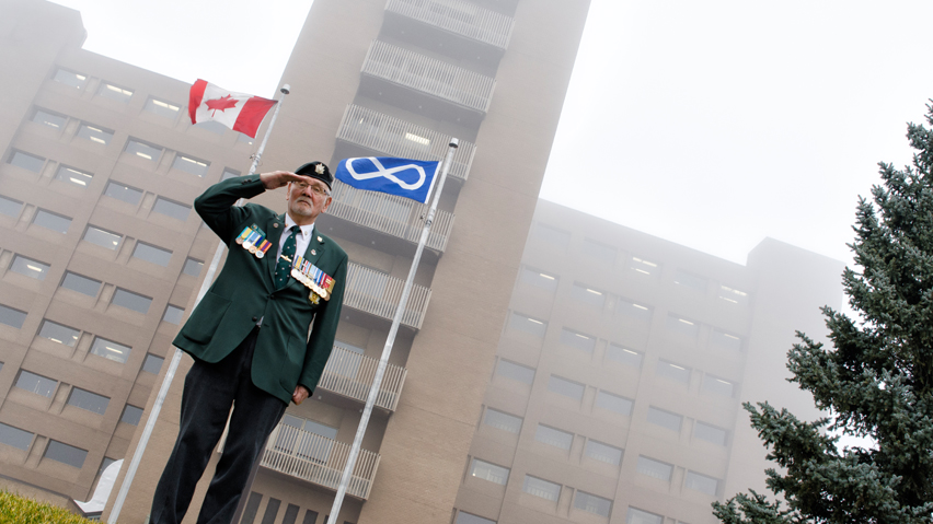 Saskatchewan Polytechnic raises Métis flag for Louis Riel Memorial Day
