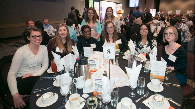 Dinner helps students connect with industry and prepare for future careers