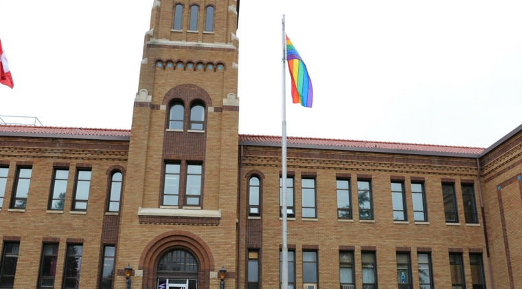 Saskatchewan Polytechnic raises rainbow flag for LGBTQ community at all campuses for PRIDE