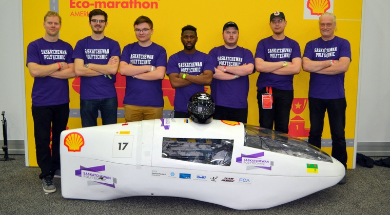 Saskatchewan Polytechnic eco-car makes great debut run, finishing 18th overall