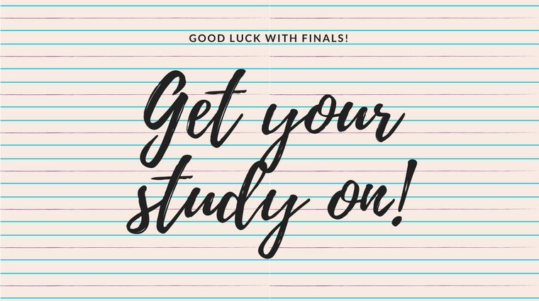 Get your study on! Studying tips for successful finals