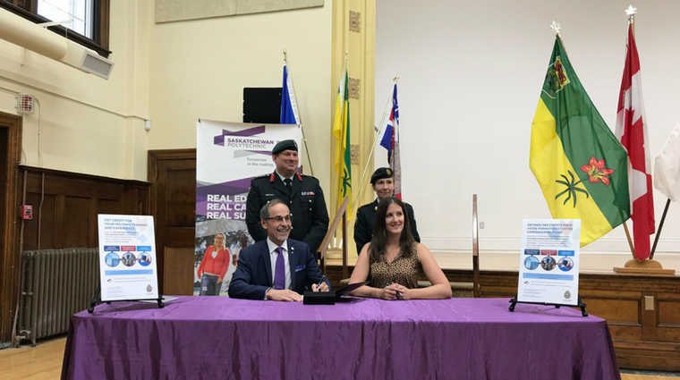 Saskatchewan Polytechnic joins BCIT in recognizing military experience for veterans and reservists