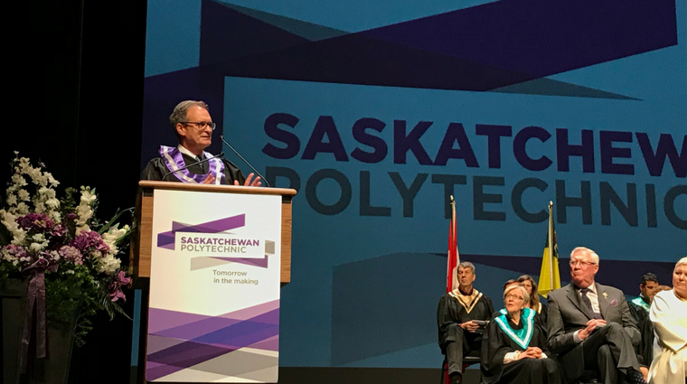 Lorne Wright receives honorary diploma at Saskatoon convocation