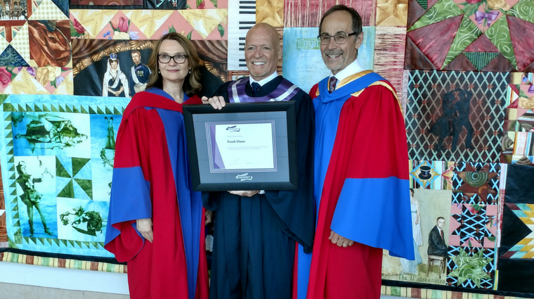 Frank Dunn receives honorary diploma at Prince Albert convocation