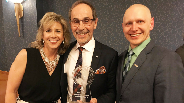 Dr. Larry Rosia receives Paul A. Elsner International Excellence in Leadership Award