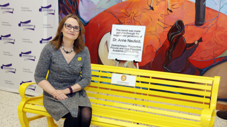 Friendship Benches at Saskatchewan Polytechnic promotes conversations about wellness