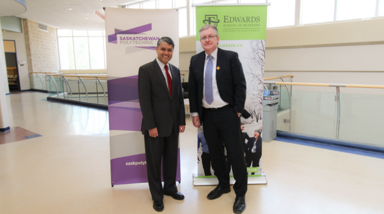 Edwards School of Business and Saskatchewan Polytechnic reaffirm partnership