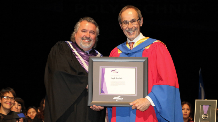 Ralph Boychuk receives honorary diploma at Prince Albert Convocation