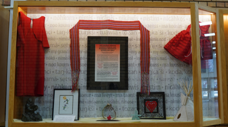 Display to honour Missing and Murdered Indigenous Women and Girls