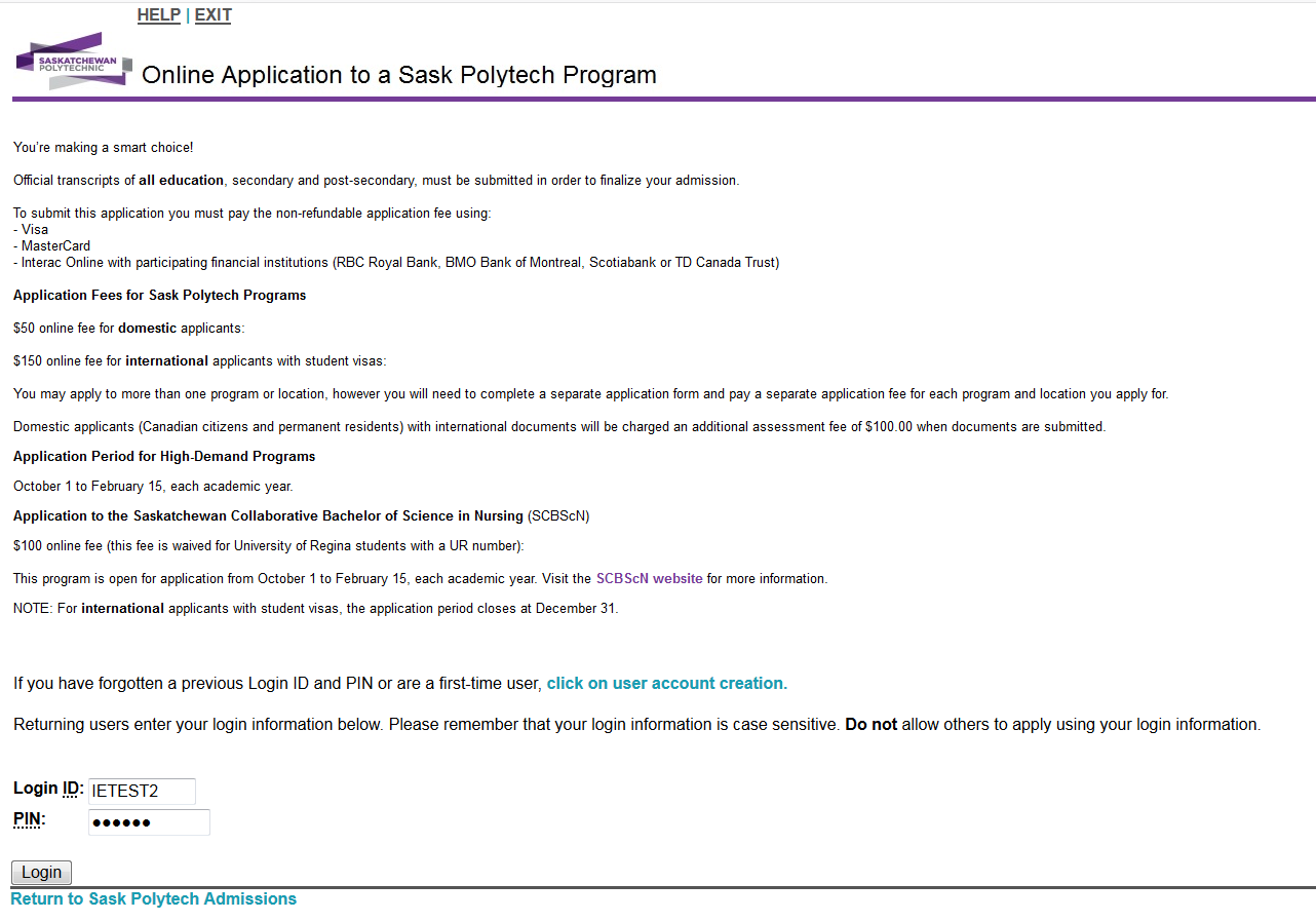 International Student Guide to the Saskatchewan Polytechnic Application
