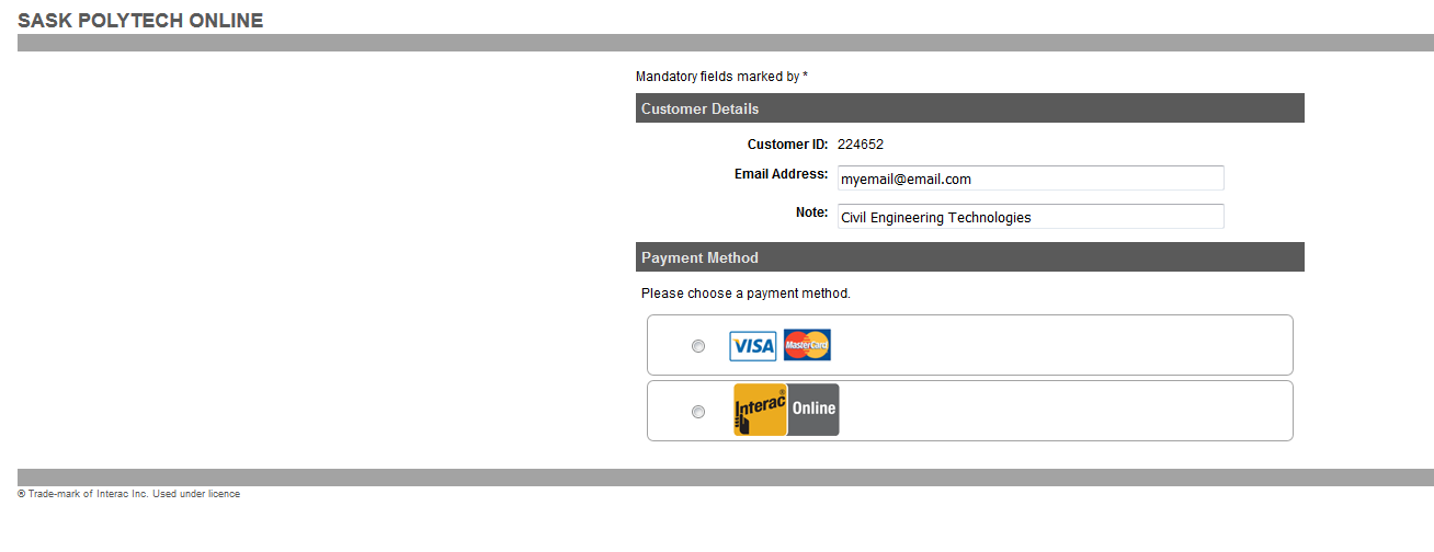 Payment screenshot