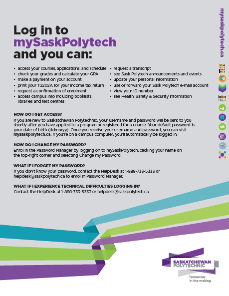 mySaskPolytech Quick Reference thumbnail